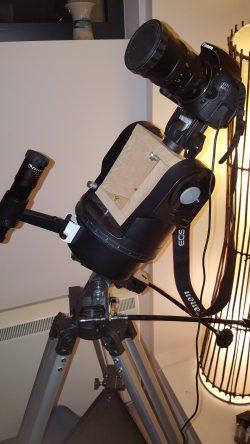Driven camera mount