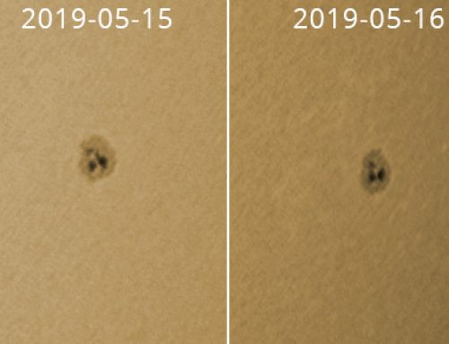 Sunspot groups 2019-05 14/15/16/17