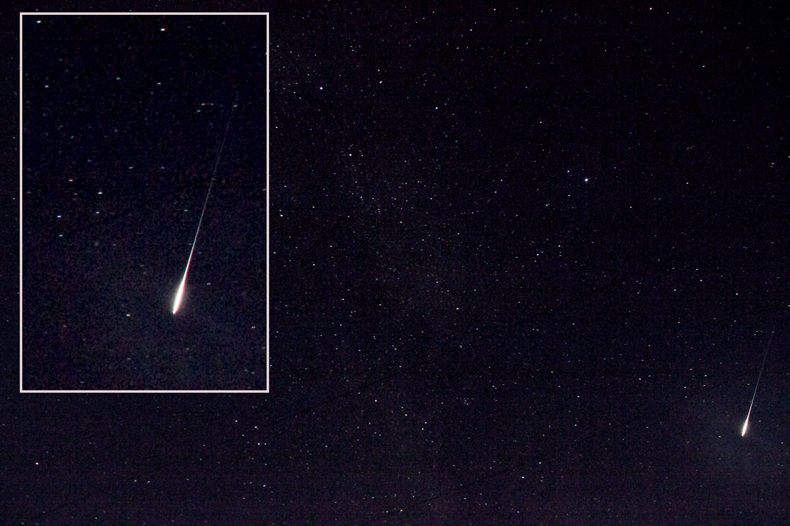Perseid near Cygnus and Lyra