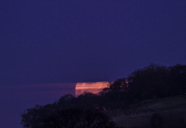 Supermoonrise over Ratho Edinburgh