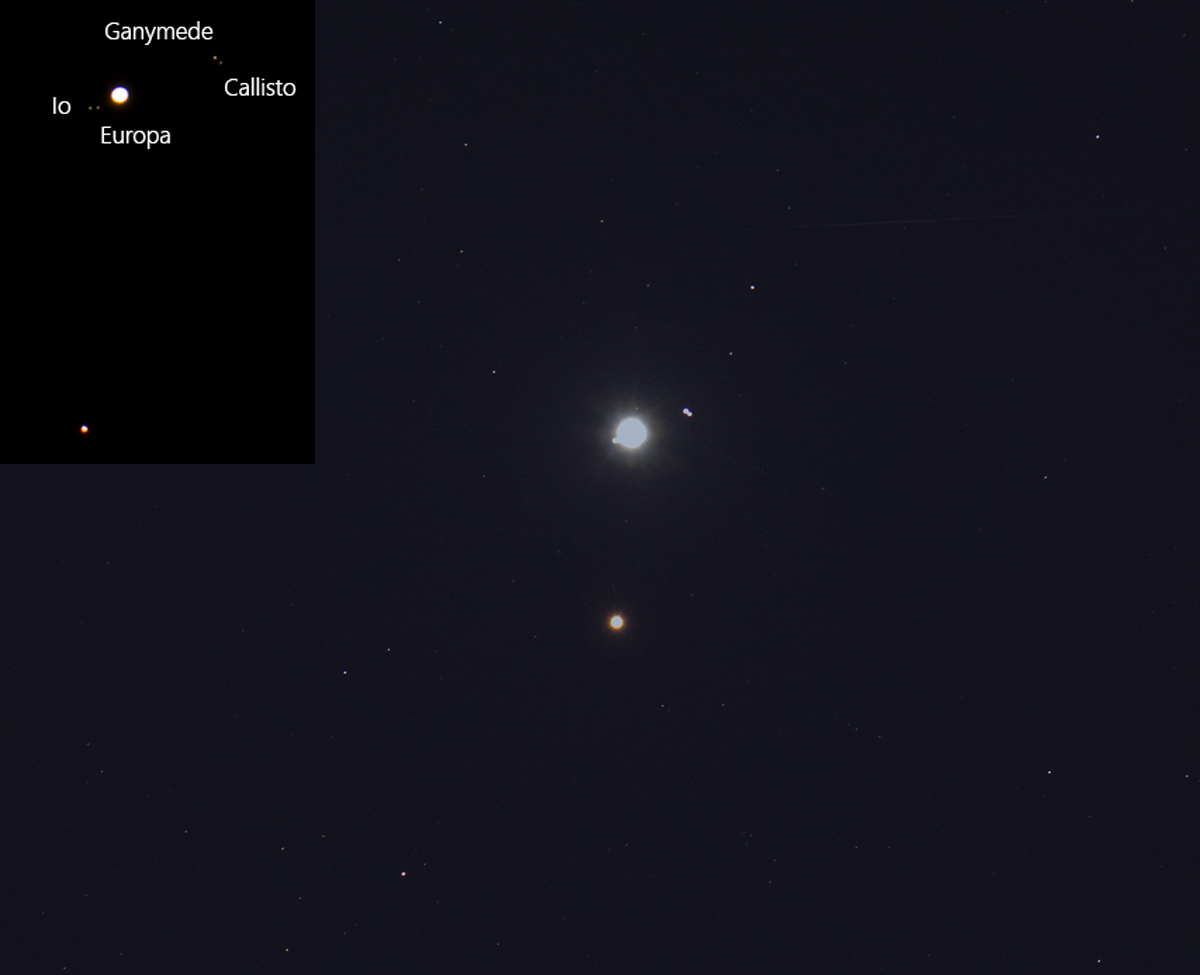 Lupiter and Mars conjunction 2018-01-7