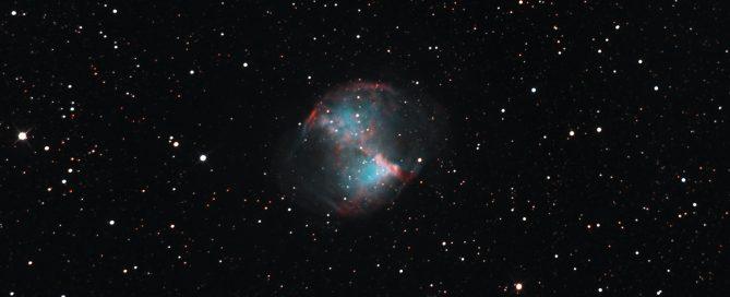 M27 NGC 6853 Dumbbell nebula RGB