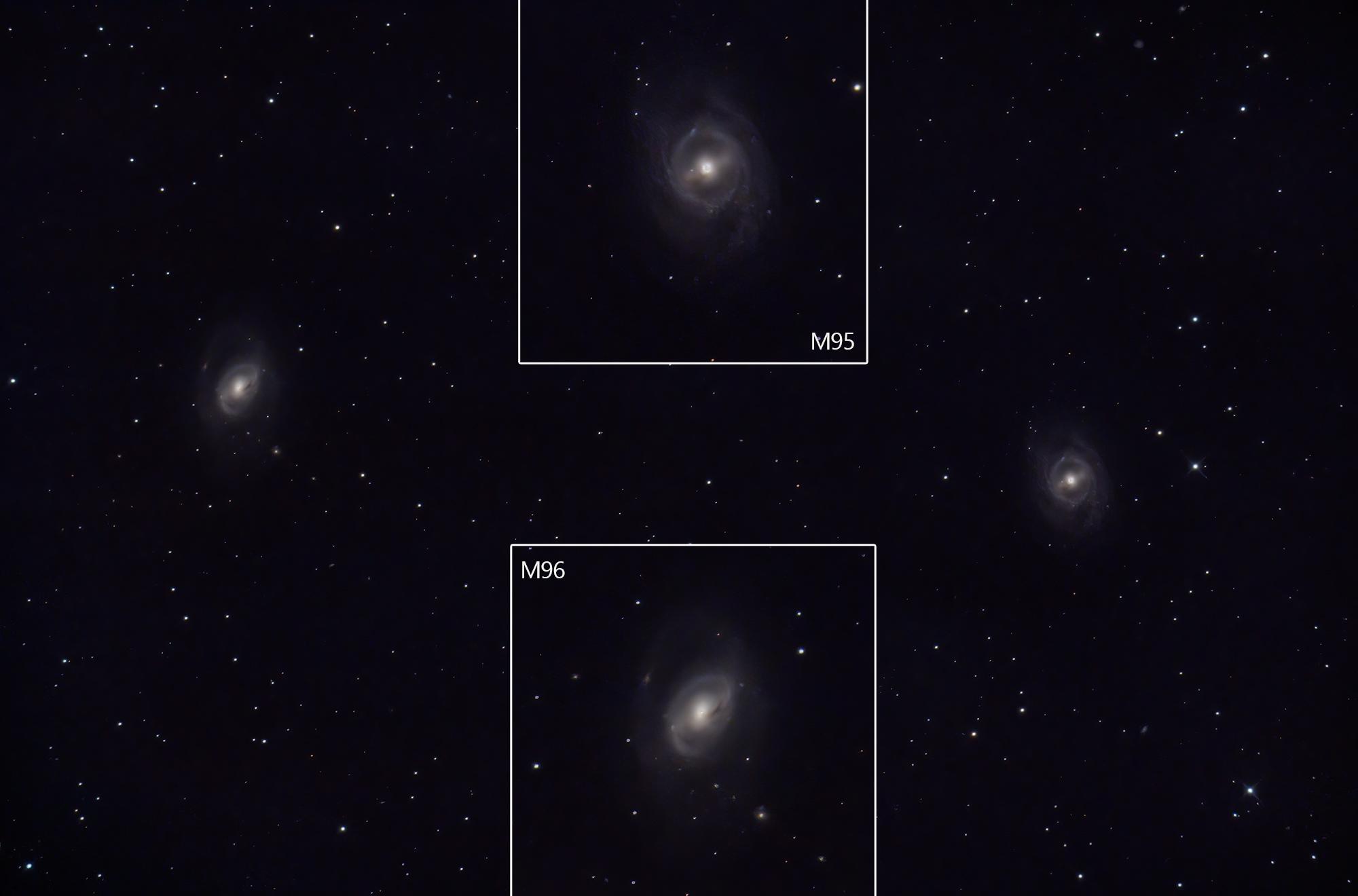 M95 M96 galaxies Leo