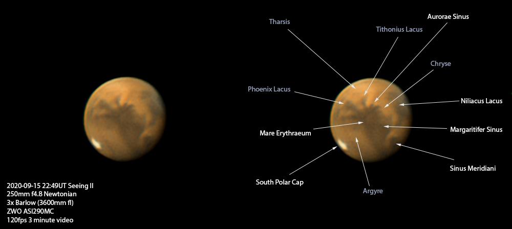 Mars plus identification of features