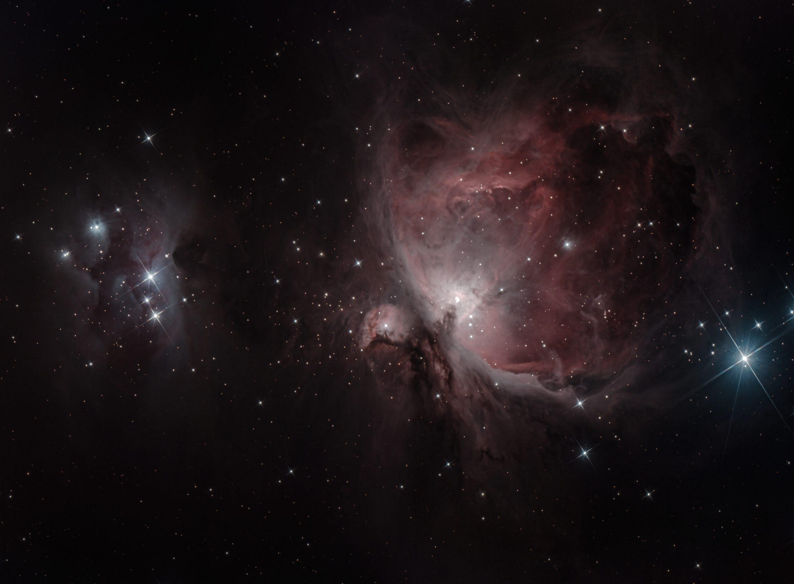 M42 & NGC 1977 mosaic  Dec 2020