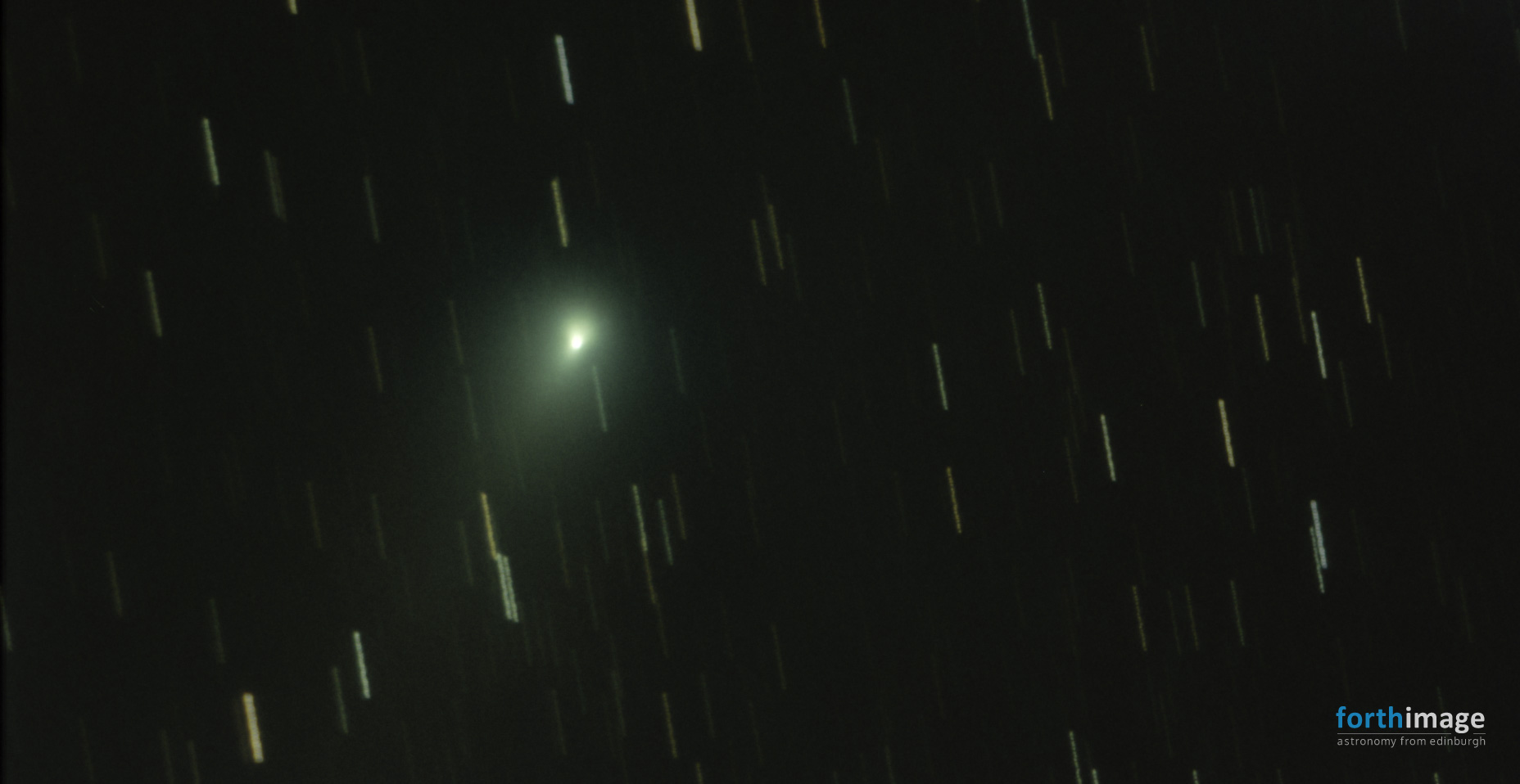 Comet 21P/Giacobini-Zinner brightening and tail developing